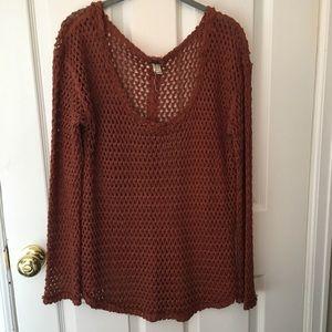 Dark orange Free People sweater